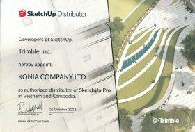 Chứng nhận phân phối ủy quyền SketchUp